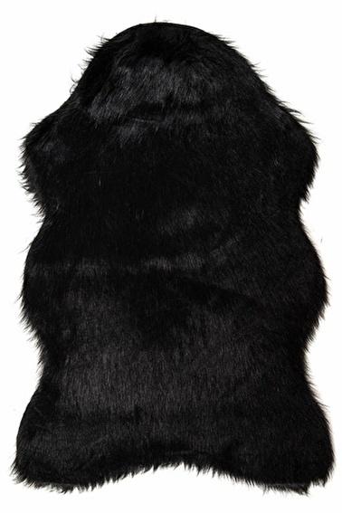 Giz Home Alaska Peluş Post Halı Siyah Siyah
